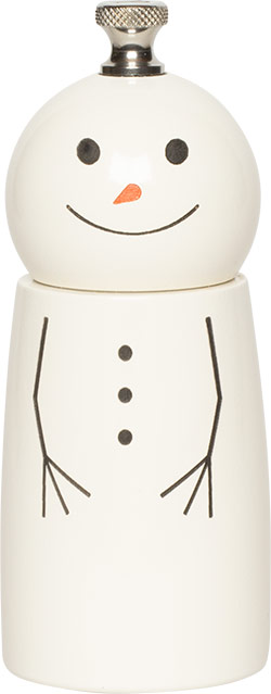 "4"" Mini Snowman Pepper Mill & Salt Shaker"