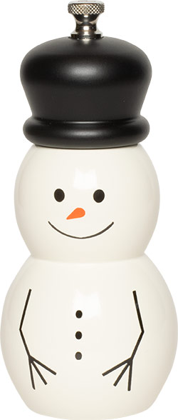 6 inch Snowman Mill with Hat